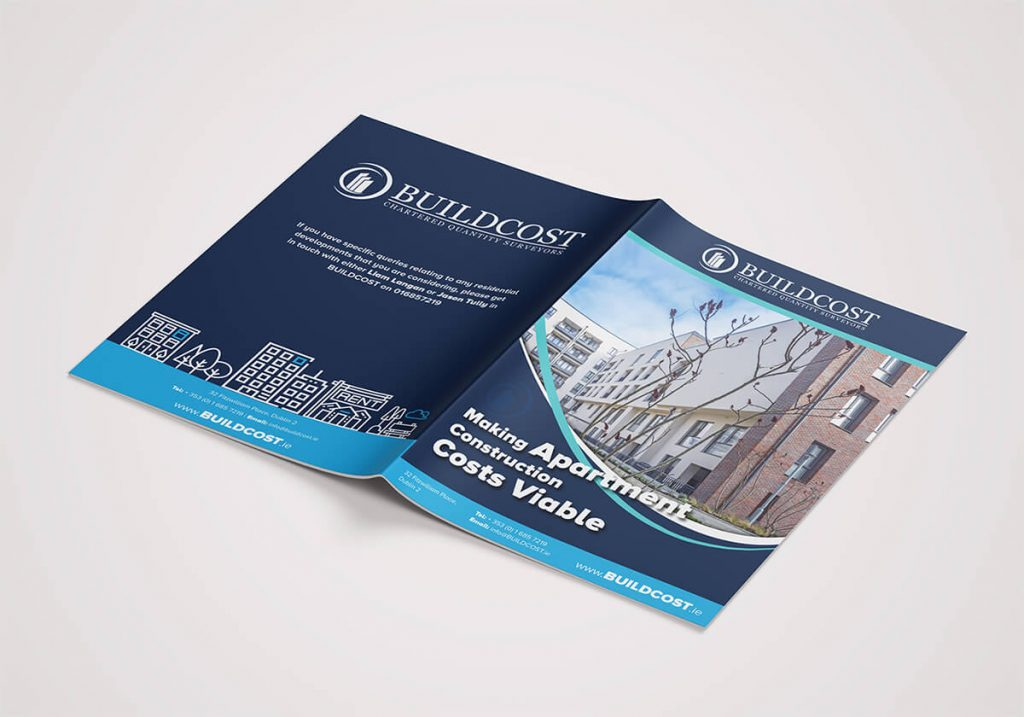 Buildcost Dublin Graphic Design Brochure Design by Pretty Owl Designs