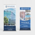 Buildcost Dublin Graphic Design Roll Up / Pull Up Banner by Pretty Owl Designs