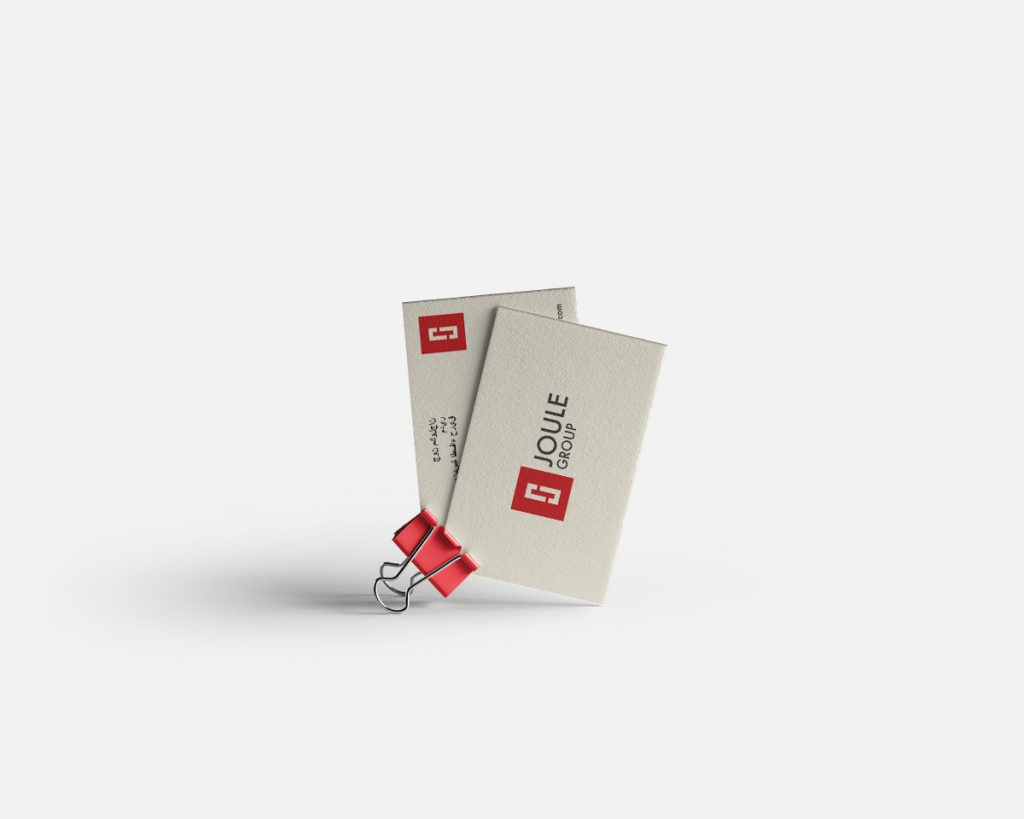 Joule Group Dubai and Donegal   Business Card Design by Pretty Owl Designs   Letterkenny   Ireland