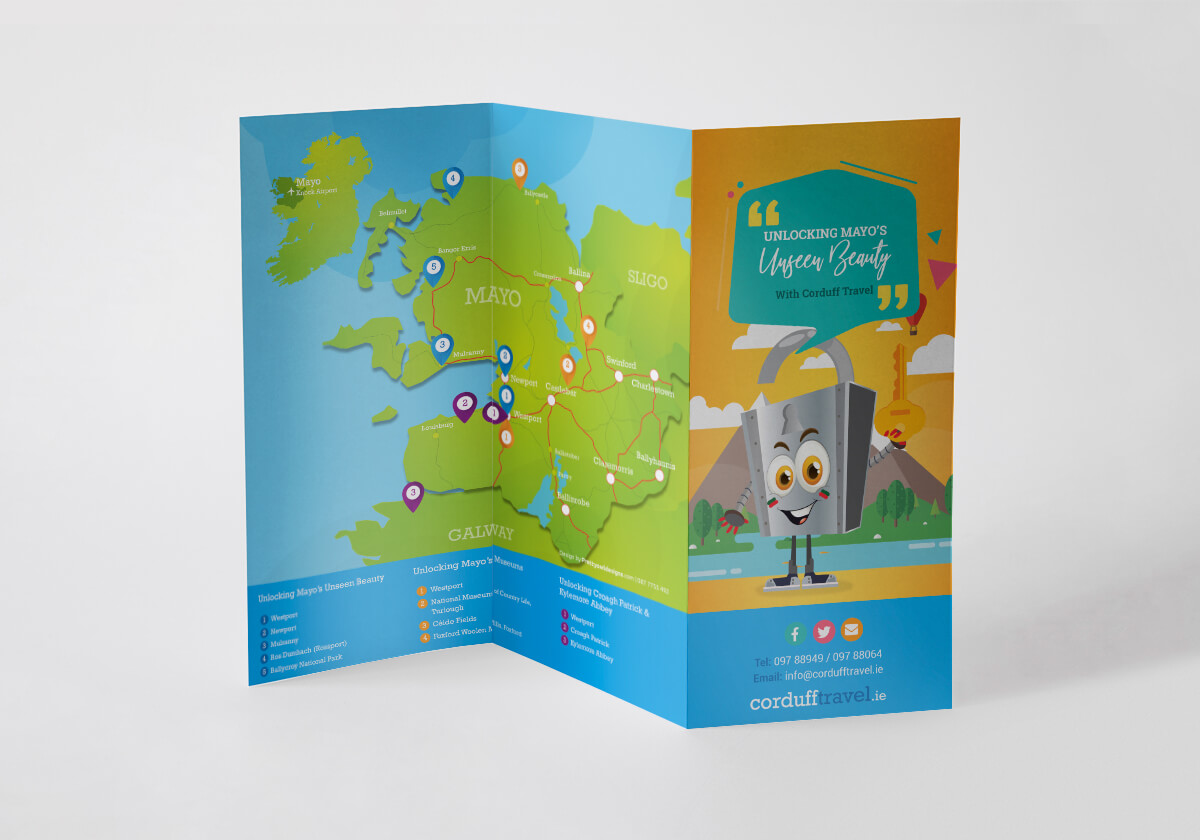 Corduff Travel, Belmullet Co. Mayo Brochure Design by Pretty Owl Designs