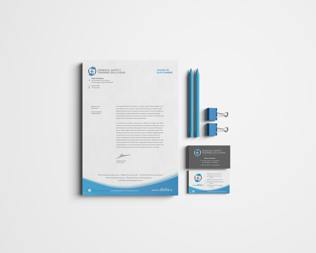 Donegal Safety Training Solutions Stationery Design by Pretty Owl Designs