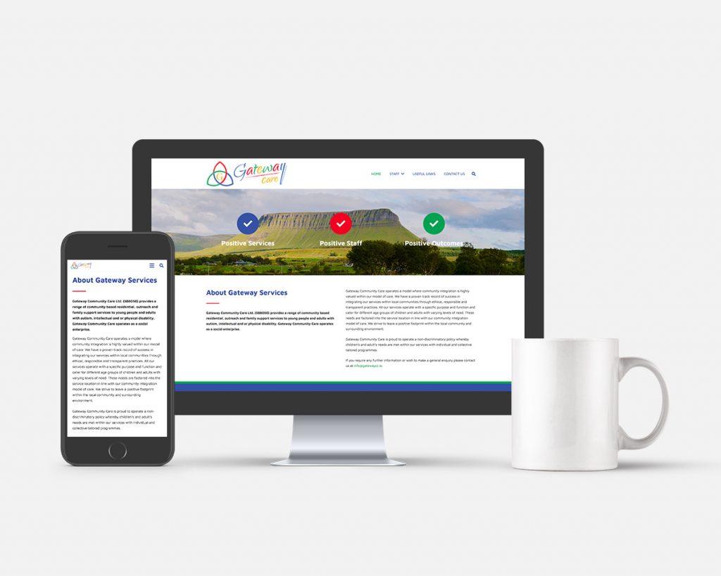 Gateway CC Co Sligo Website Design by Pretty Owl Designs